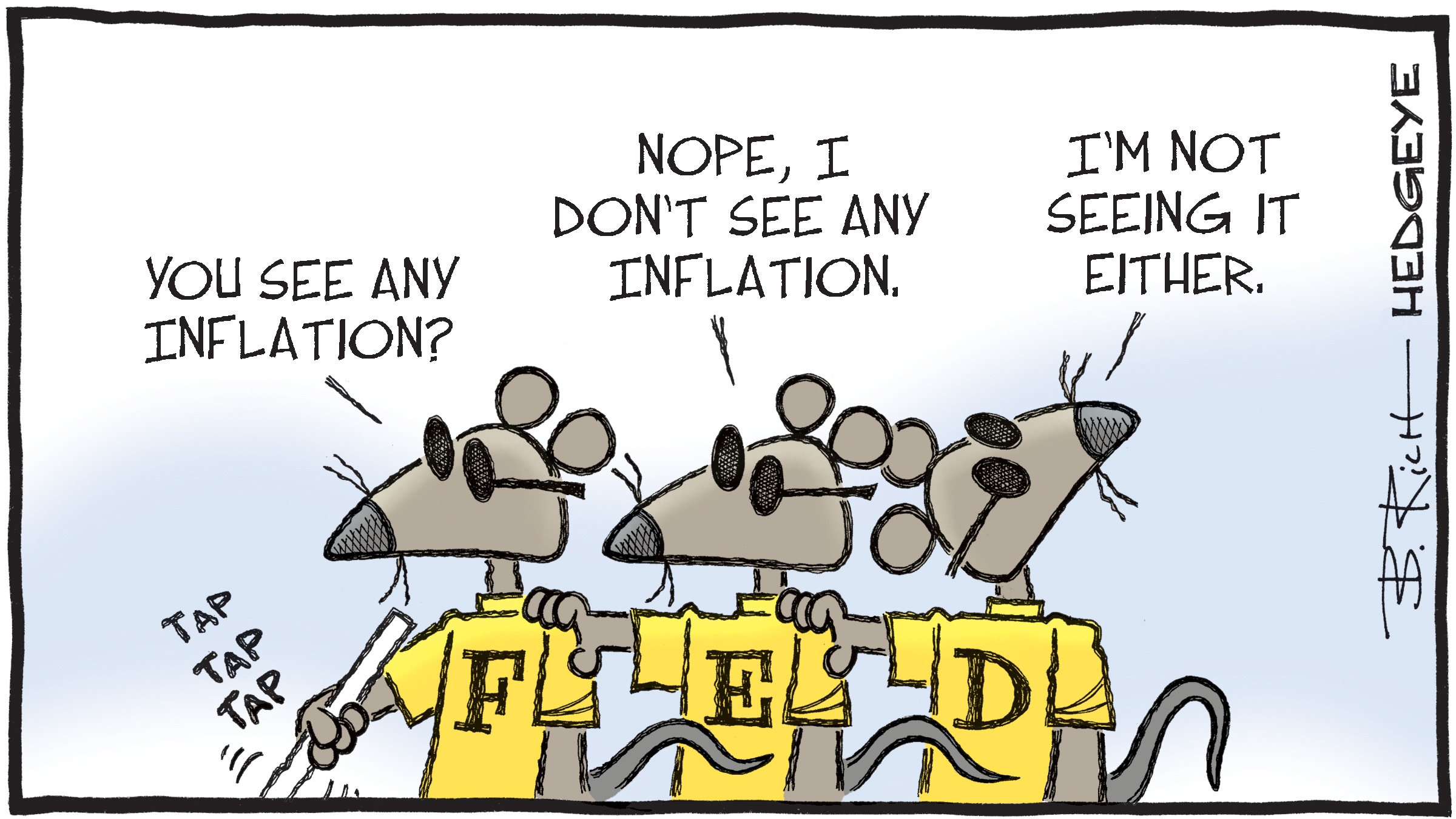 No inflation here
